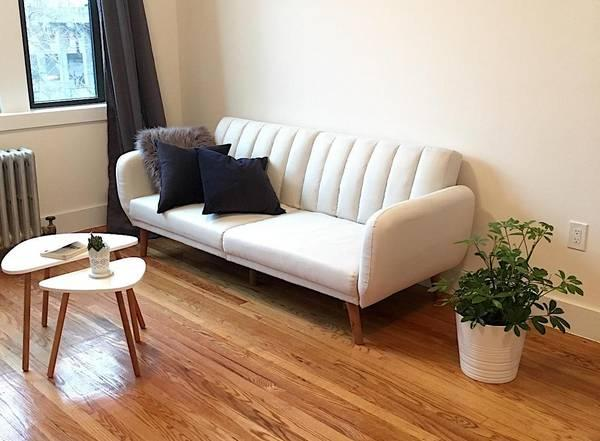 Amazing Convertible Linen Upholstery Sofa Futon Bed In Muskogee Oklahoma Bralicious Painted Fabric Chair Ideas Braliciousco